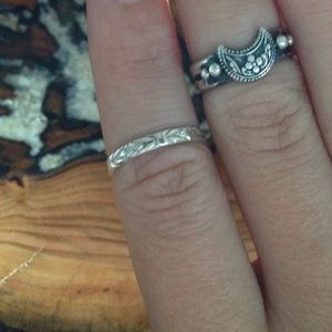 STERLING SILVER Hand-Stamped Midi Ring